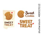 set confectionery banners ... | Shutterstock .eps vector #483015112