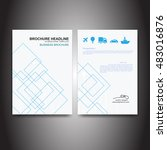 business brochure with squares... | Shutterstock .eps vector #483016876