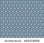 seamless light blue isometric... | Shutterstock .eps vector #483018808