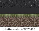 vector pixel art illustration...   Shutterstock .eps vector #483023332