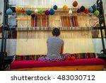 cappadocia   may 17   woman... | Shutterstock . vector #483030712