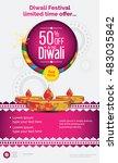 creative diwali festival offer...   Shutterstock .eps vector #483035842