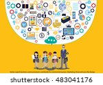 vector search business... | Shutterstock .eps vector #483041176