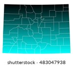 map of colorado | Shutterstock .eps vector #483047938