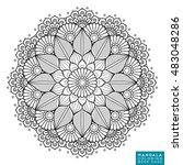 flower mandala. vintage...   Shutterstock .eps vector #483048286