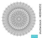 mandala  vector mandala  floral ...   Shutterstock .eps vector #483048352