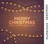 merry christmas and happy new... | Shutterstock .eps vector #483059092