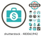 accounting case icon with bonus.... | Shutterstock . vector #483061942