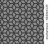 black and white graphic pattern ... | Shutterstock .eps vector #483064135