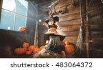 Halloween. Child Little Witch...
