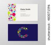 modern letter c circle colorful ...   Shutterstock .eps vector #483071596