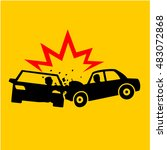 car crash icons vectors | Shutterstock .eps vector #483072868