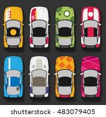 vector super sports cars set | Shutterstock .eps vector #483079405