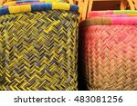 Colorful Wicker Reed Baskets I...