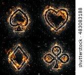 fire card suits | Shutterstock . vector #483083188