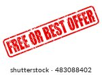 free or best offer red stamp... | Shutterstock .eps vector #483088402