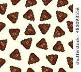 seamless pattern with happy... | Shutterstock .eps vector #483093556