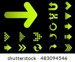 arrow vector 3d button icon set ... | Shutterstock .eps vector #483094546