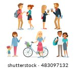 set of style young people and... | Shutterstock .eps vector #483097132
