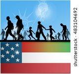 american people immigration... | Shutterstock .eps vector #483104692