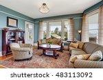 traditional living room... | Shutterstock . vector #483113092