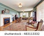 traditional living room... | Shutterstock . vector #483113332
