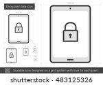 encrypted data vector line icon ...   Shutterstock .eps vector #483125326