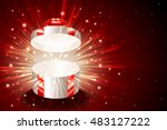 open gift box with shining... | Shutterstock .eps vector #483127222