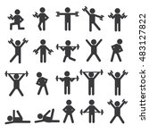 people stick figure pictogram... | Shutterstock .eps vector #483127822