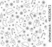christmas vector seamless... | Shutterstock .eps vector #483130672