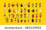 stock vector set of characters... | Shutterstock .eps vector #483134902