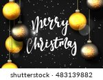 merry christmas and happy new... | Shutterstock .eps vector #483139882