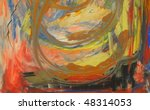 an abstract acrylic painting on ... | Shutterstock . vector #48314053