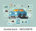 diagnostics of machines in... | Shutterstock .eps vector #483140878