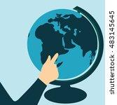 world tourism day.globe vector... | Shutterstock .eps vector #483145645