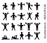 people person stick figure... | Shutterstock .eps vector #483149128