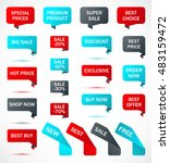 vector stickers  price tag ...   Shutterstock .eps vector #483159472