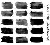 set of blots. watercolor... | Shutterstock . vector #483160456