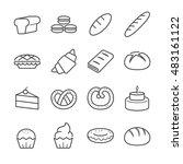 bakery icons | Shutterstock .eps vector #483161122