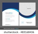professional brochure concept... | Shutterstock .eps vector #483168436