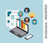 job opportunity online flat... | Shutterstock .eps vector #483182965