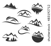 mountain logo | Shutterstock .eps vector #483192712
