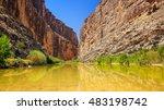 rio grande river flows through...   Shutterstock . vector #483198742