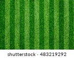 green grass soccer field... | Shutterstock . vector #483219292