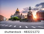 st. isaac's cathedral under the ... | Shutterstock . vector #483221272