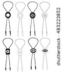 bolo ties black and white... | Shutterstock .eps vector #483223852