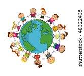 kids around the world.   Shutterstock .eps vector #48322435
