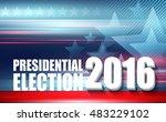 2016 usa presidential election... | Shutterstock .eps vector #483229102