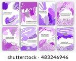 hand drawn artistic background... | Shutterstock .eps vector #483246946