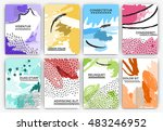 hand drawn artistic background... | Shutterstock .eps vector #483246952
